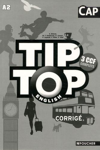 Tip-Top English CAP correction patissier