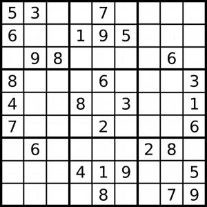 sudoku ordonnancement